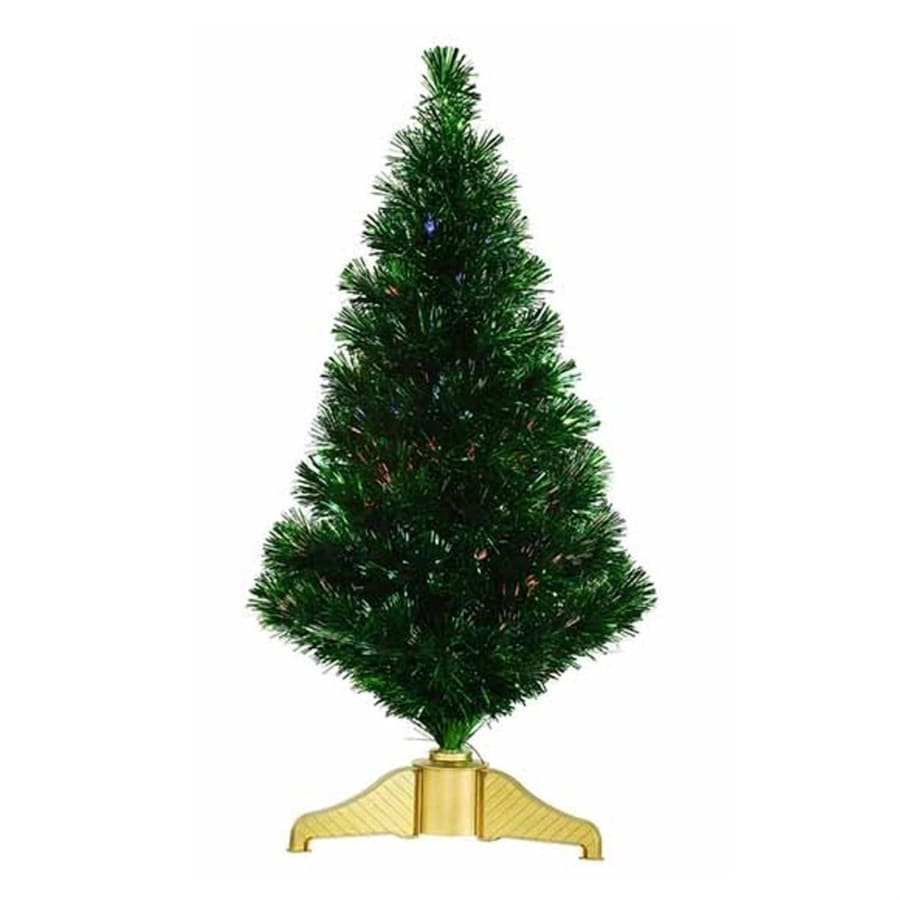 Shop Northlight 3-ft Pre-lit Artificial Christmas Tree with Color ...