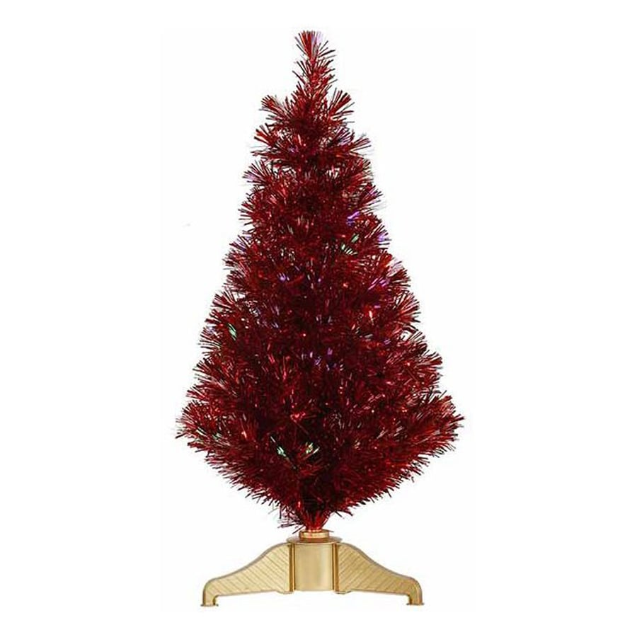 Northlight 3-ft Pre-lit Artificial Christmas Tree with Color Changing Fiber Optics