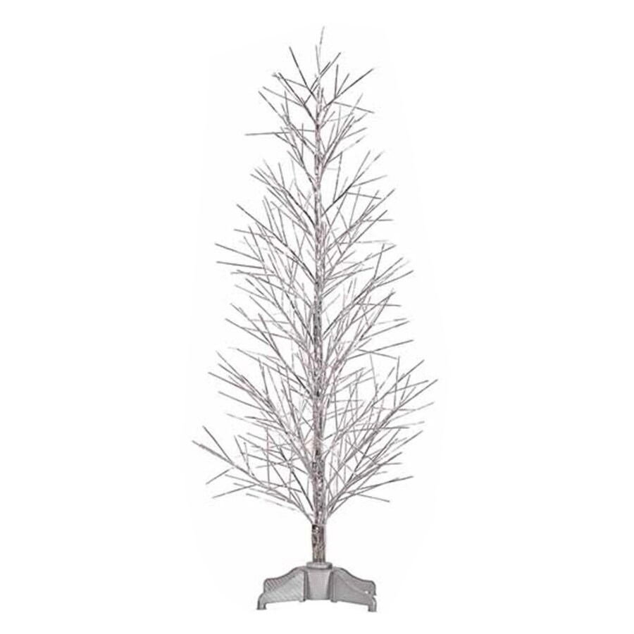 Northlight 5-ft 345-Count Pre-Lit Twig Slim Artificial Christmas Tree with Color Changing Fiber Optic Lights