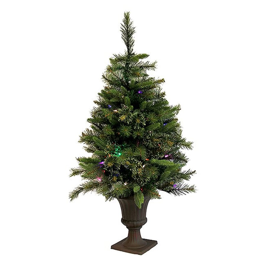 Northlight 3-ft 6-in Pre-lit Artificial Christmas Tree with 100 Multicolor ClearLED Lights