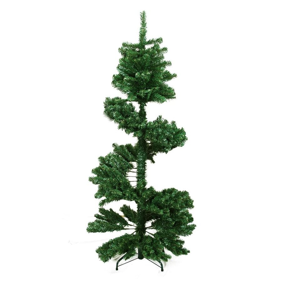 Shop Northlight 5-ft 6-in Spiral Topiary Slim Artificial Christmas ...