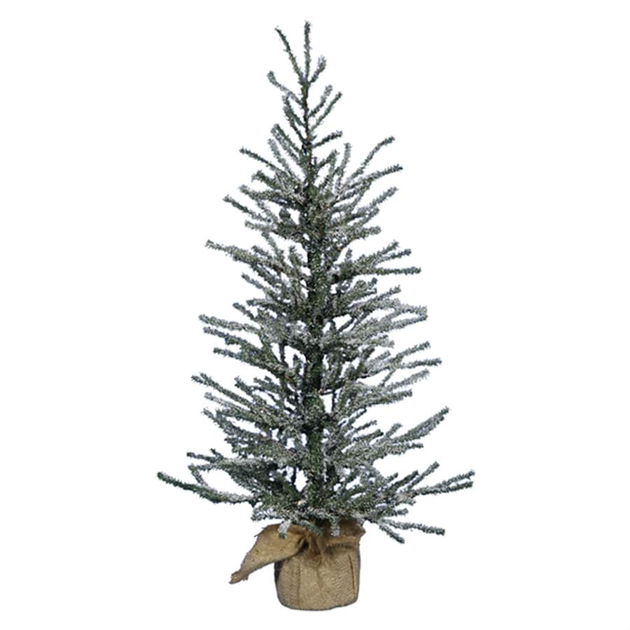 Northlight 2-ft 6-in 319-Count Slim Flocked Artificial Christmas Tree