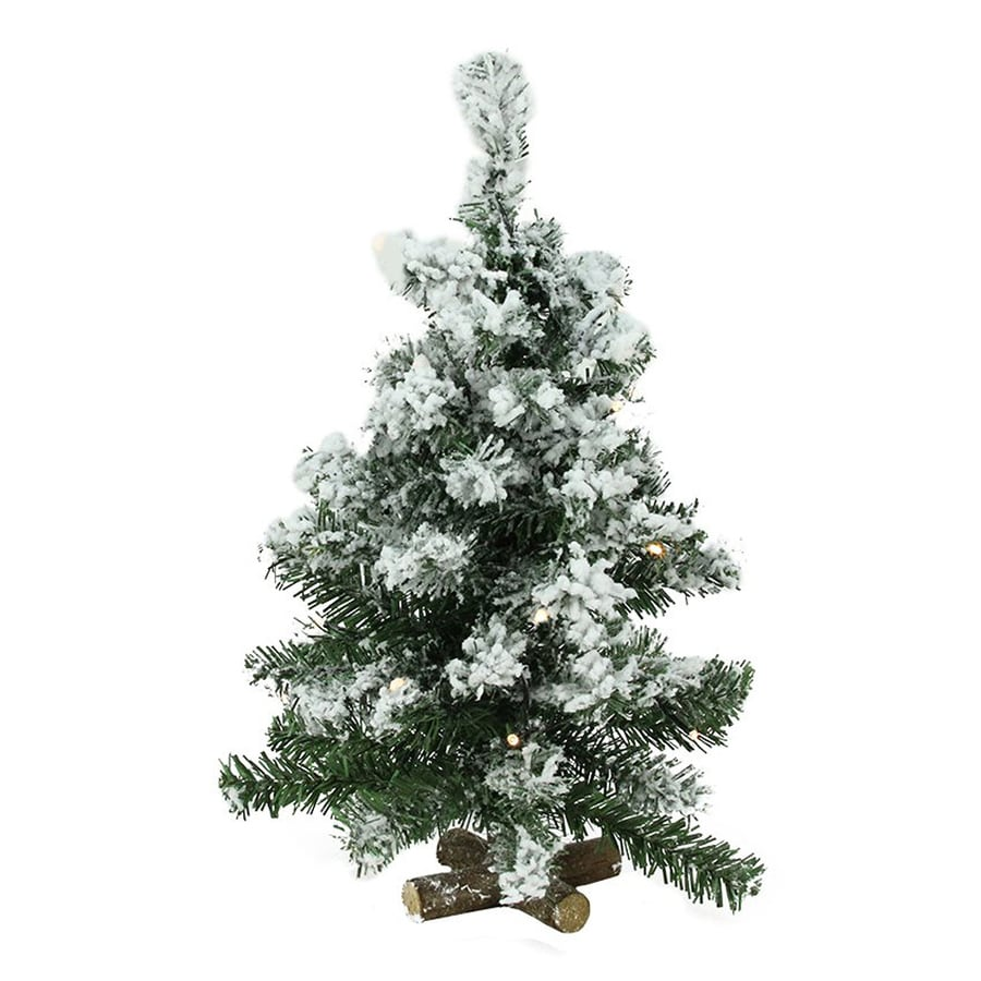 Northlight 1 6 Ft Pre Lit Flocked Artificial Christmas