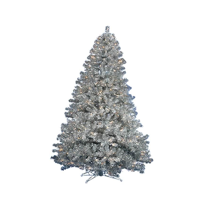 Northlight 6-ft Pre-lit Tinsel Artificial Christmas Tree with 350 Clear White Incandescent Lights