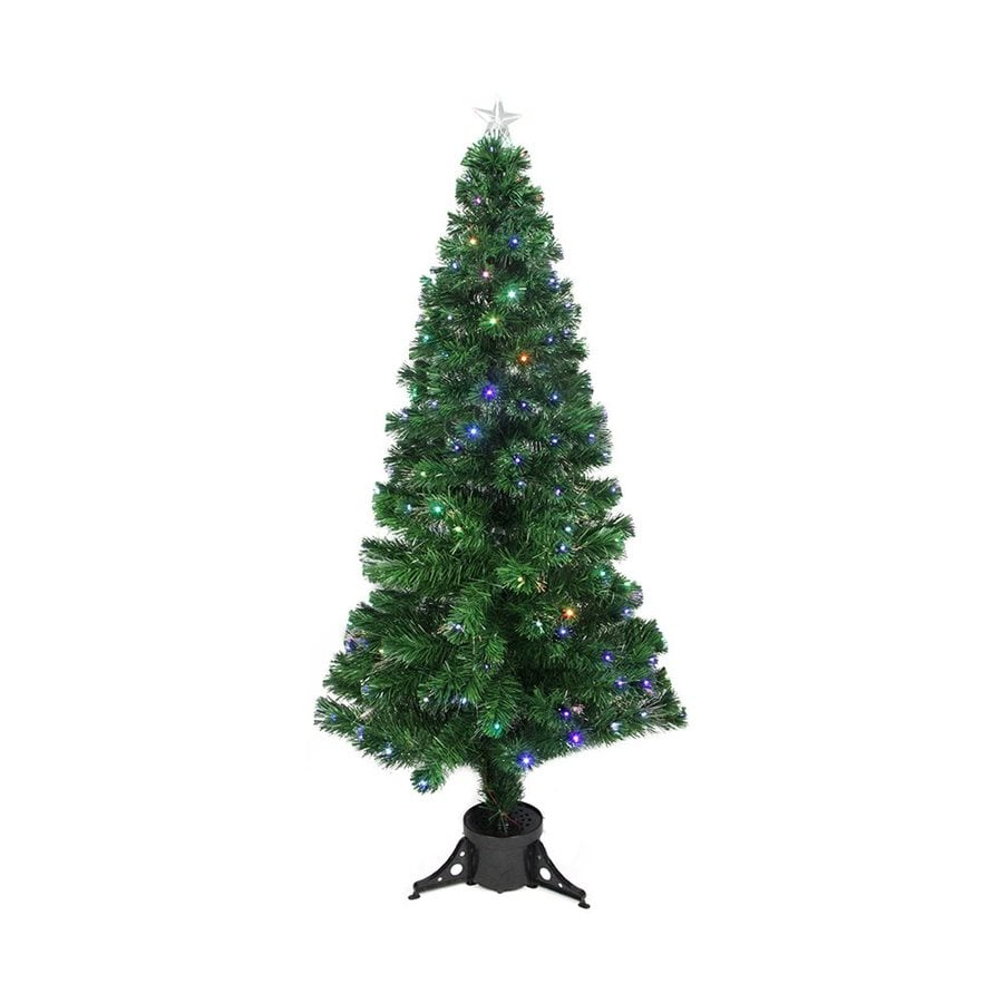 Shop Northlight 4-ft Pre-lit Slim Artificial Christmas Tree with ...