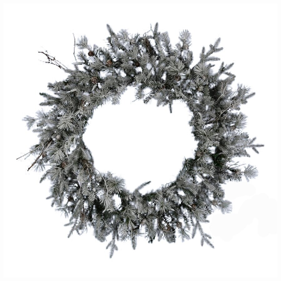 Northlight 36-in Indoor Frosted Whistler Fir Artificial Christmas Wreath