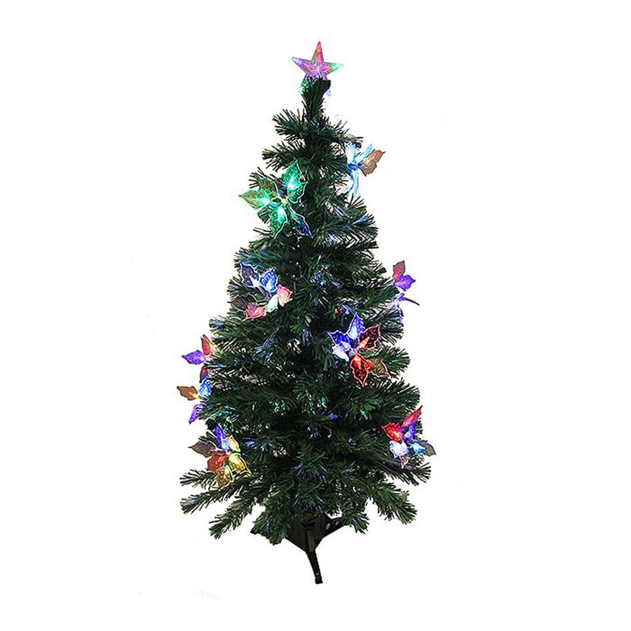 Northlight 4-ft Pre-Lit Whimsical Slim Artificial Christmas Tree with Color Changing Fiber Optic Lights