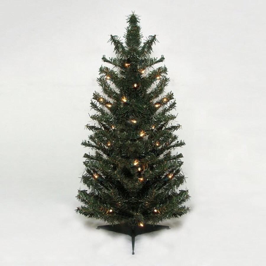 2 Ft White Christmas Tree: Northlight 2-ft Pre-lit Slim Artificial Christmas Tree