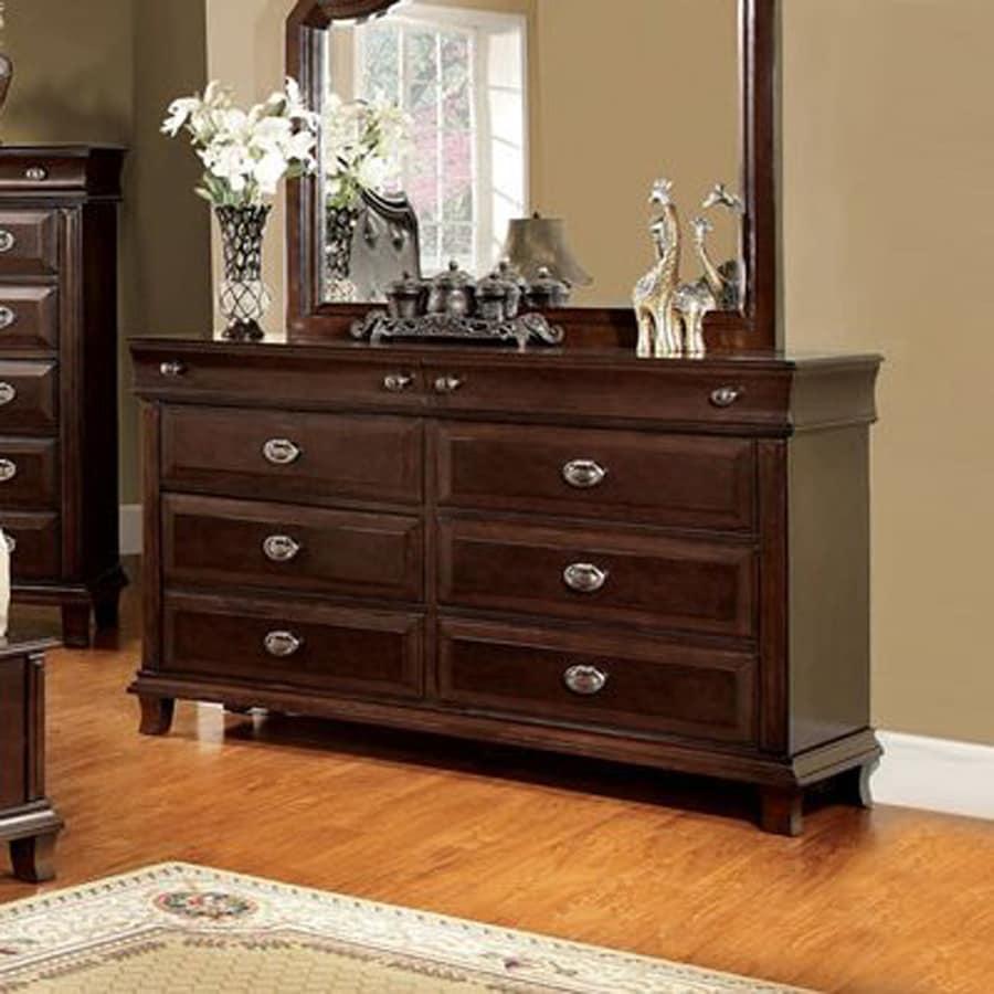Furniture of America Arden Brown Cherry 8-Drawer Double Dresser