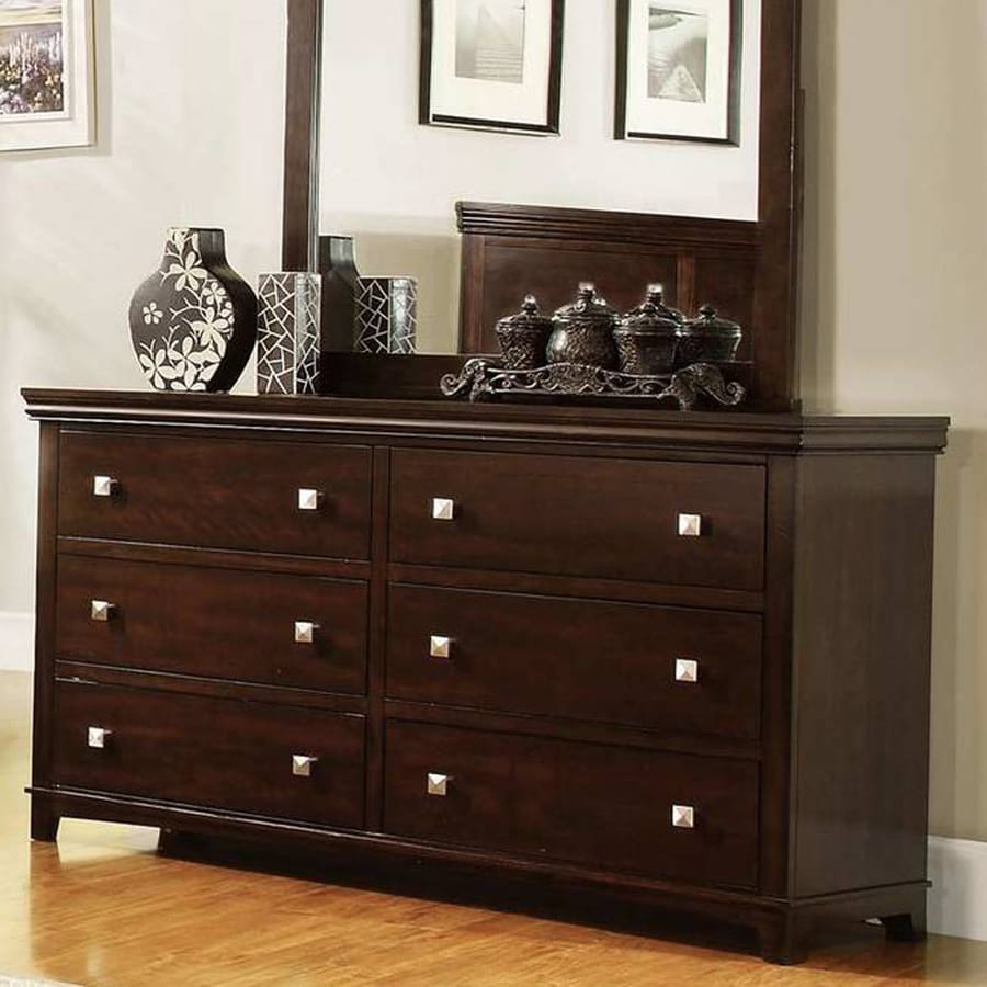 Furniture of America Spruce Brown Cherry 6-Drawer Double Dresser