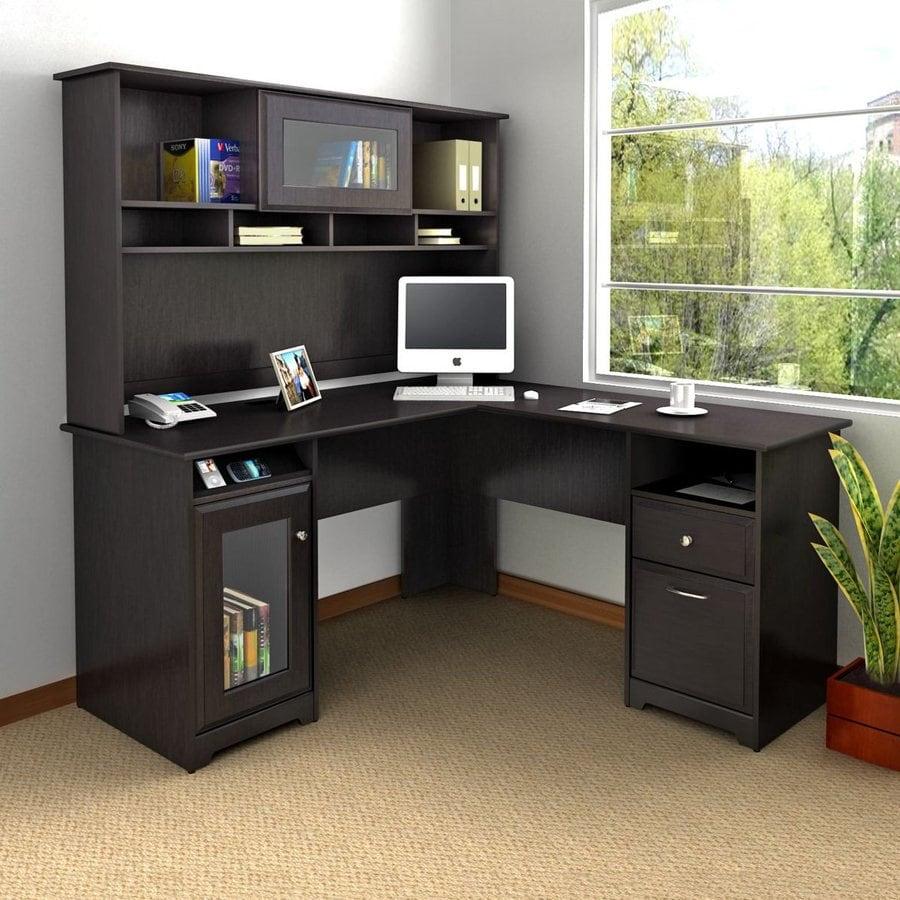 Bush Furniture Cabot 2-Piece Espresso Oak Transitional Home Office Furniture Set