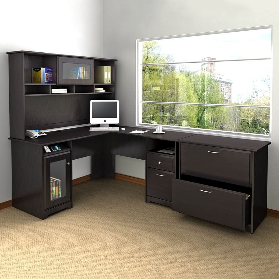 3 Piece Office Furniture ~ Shop bush furniture cabot piece espresso oak