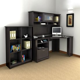 bush furniture cabot 3 piece espresso oak transitional home office furniture set