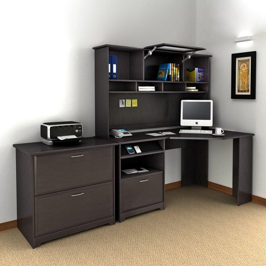 Bush Furniture Cabot 3-Piece Espresso Oak Transitional Home Office Furniture Set