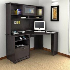bush furniture cabot 2 piece espresso oak transitional home office furniture set