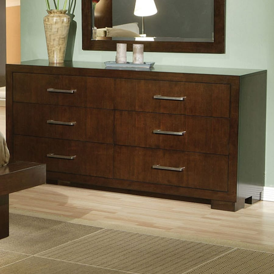 Coaster Fine Furniture Jessica Light Cappuccino 6 Drawer Double Dresser