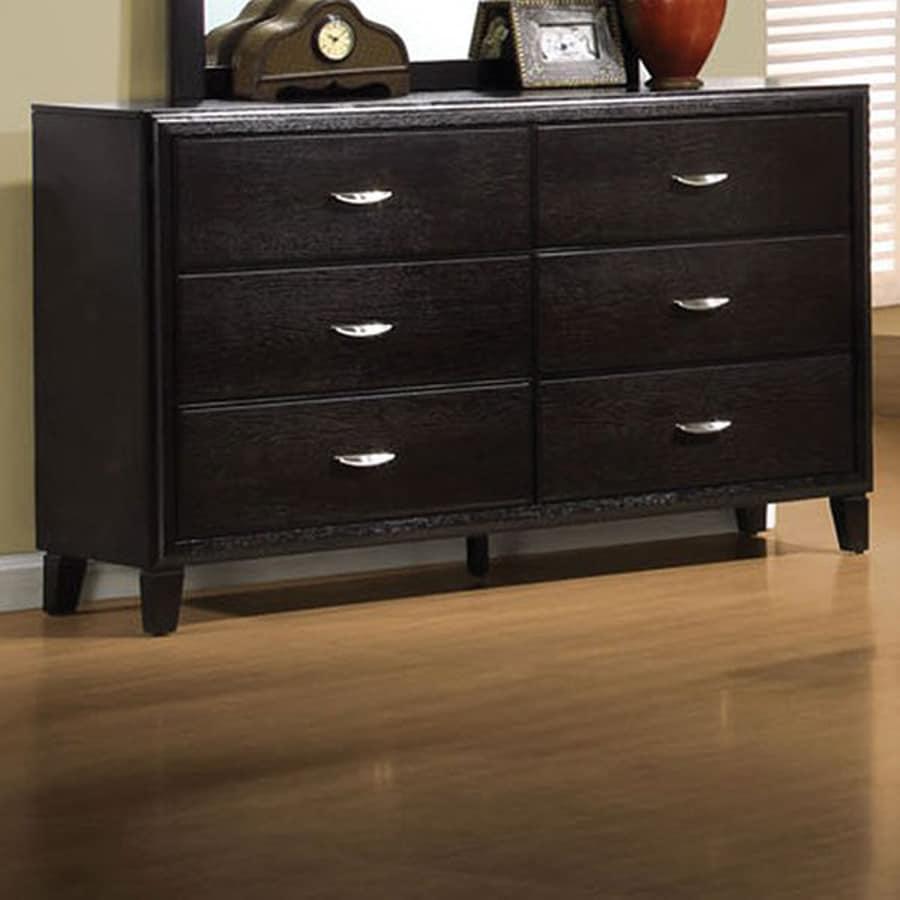 Shop Coaster Fine Furniture Nacey Dark Brown 6 Drawer