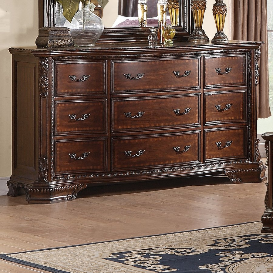 Shop Coaster Fine Furniture Maddison Brown Cherry 9-Drawer