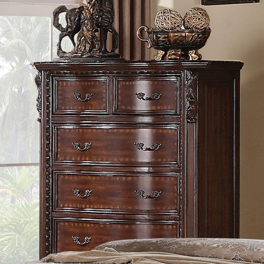Coaster Fine Furniture Maddison Brown Cherry 6-Drawer Accent Chest