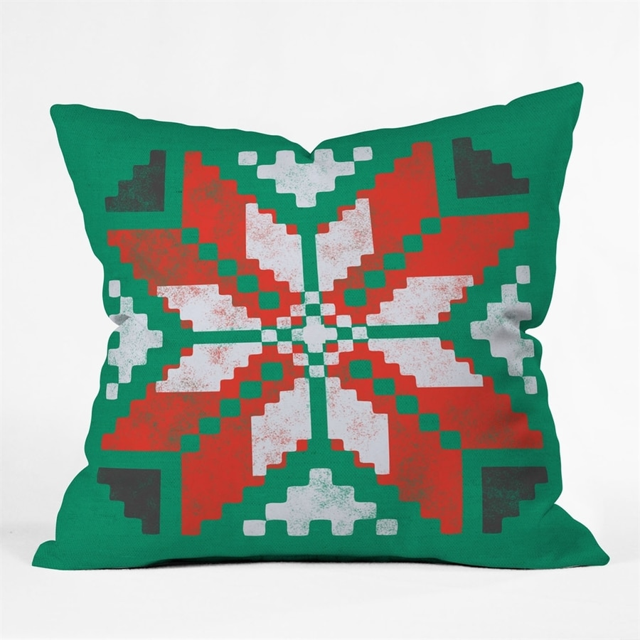DENY Design Poinsettia Pillow