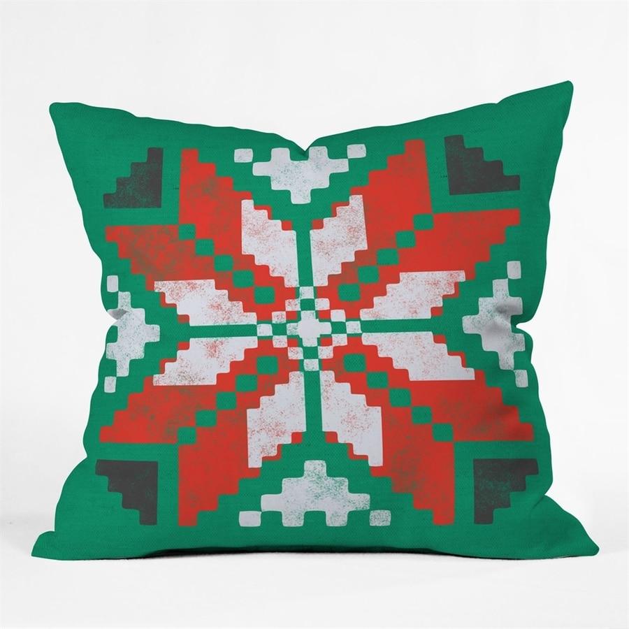 Deny Designs Poinsettia Pillow