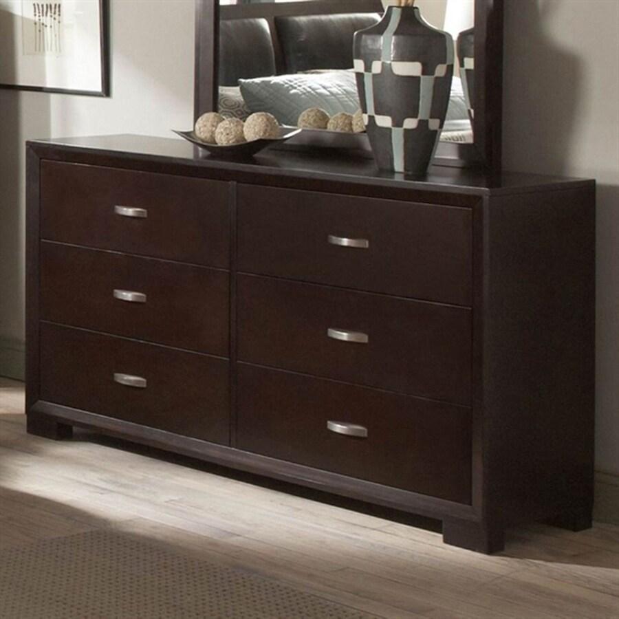 Homelegance Astrid Espresso 6-Drawer Double Dresser