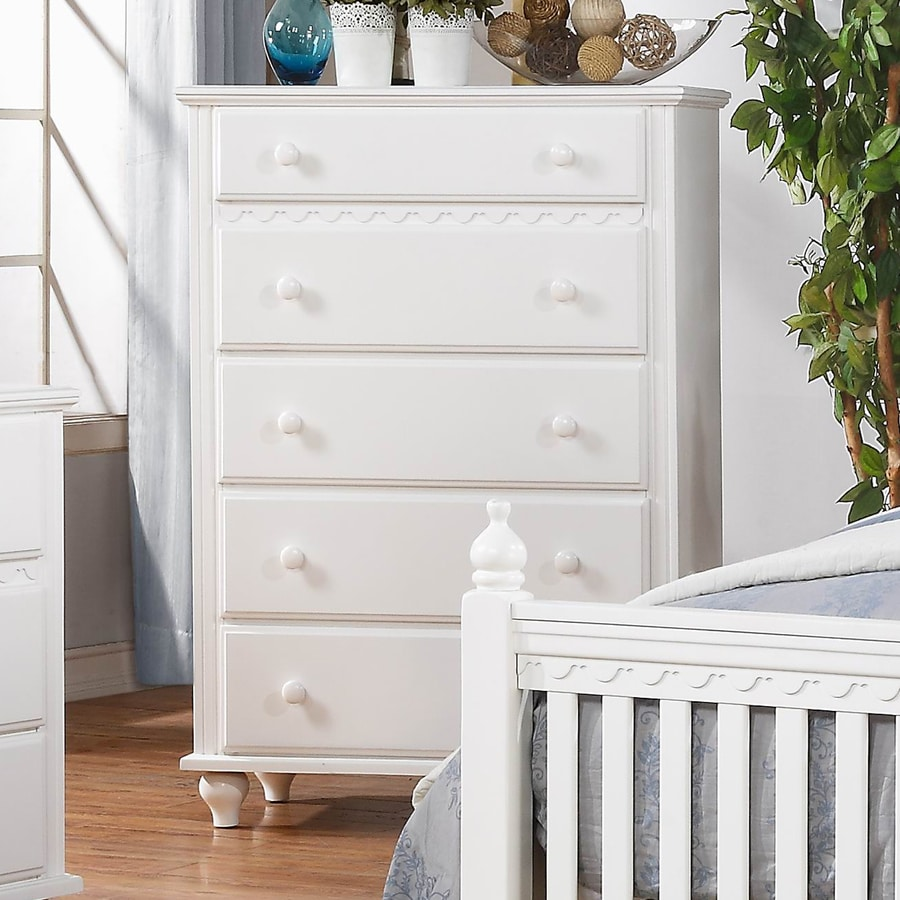 Homelegance Emmaline White Asian Hardwood 5-Drawer Chest