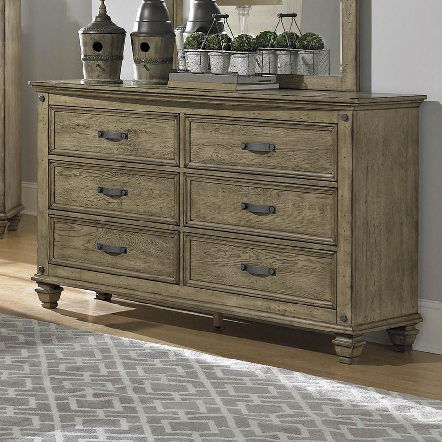 Shop Homelegance Sylvania Driftwood Rubberwood 6 Drawer