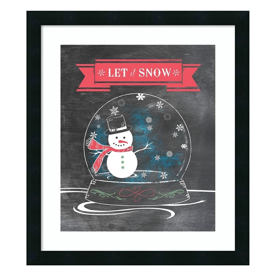 Amanti Art Let It Snow Framed Wall Art