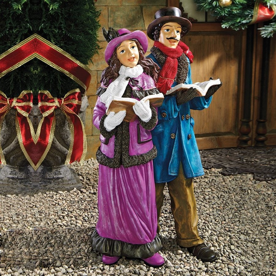Victorian Christmas Carolers Figurines: Design Toscano 25-in Multicolor Carolers Statue Greeter At