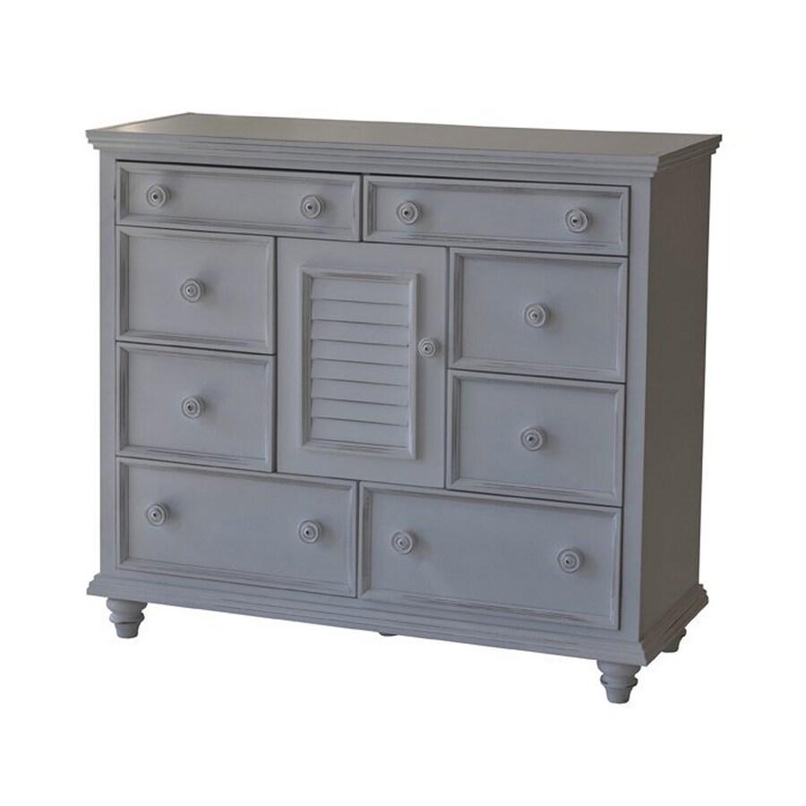 John Boyd Furniture Outer Banks Bright White 8-Drawer Combo Dresser