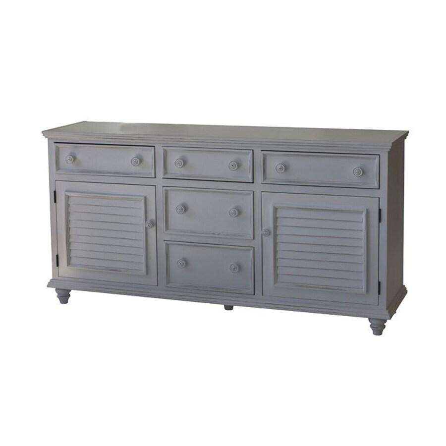 John Boyd Furniture Outer Banks Bright White 4-Drawer Combo Dresser