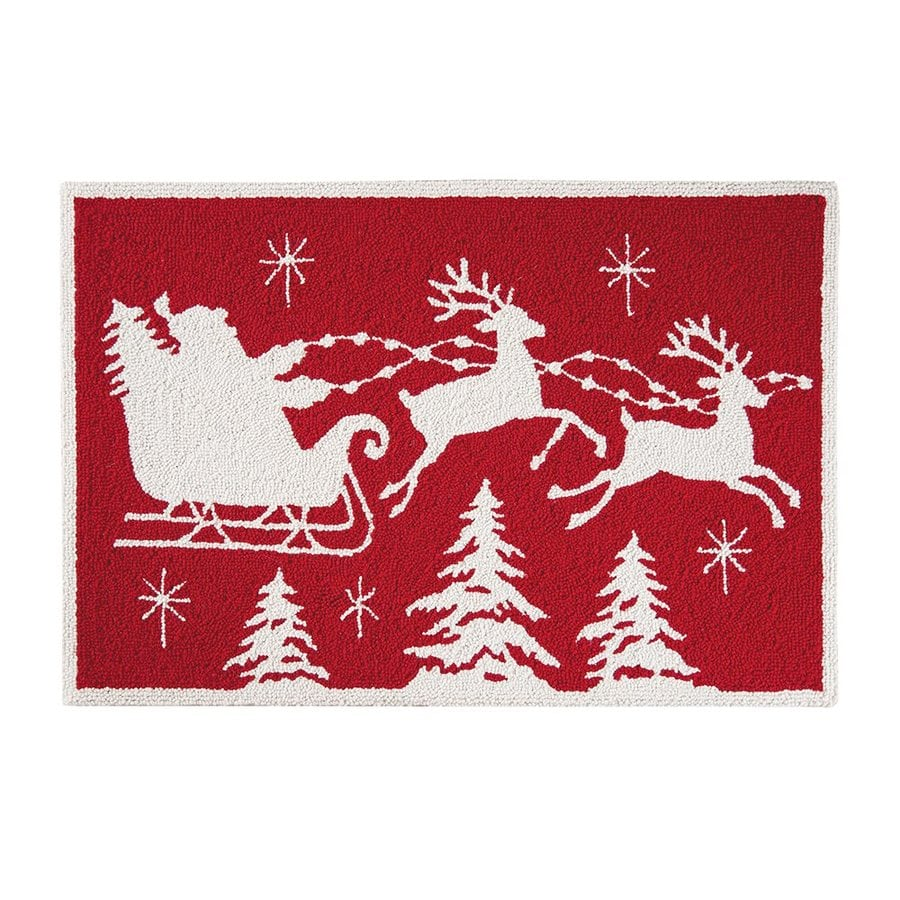 C F Enterprises Red Sleigh Tabletop Decoration