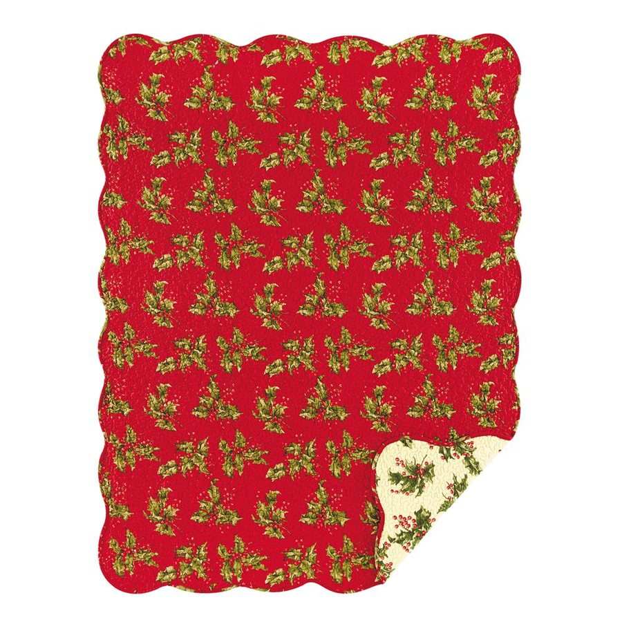 C&F Enterprises Quilted Holly Throw