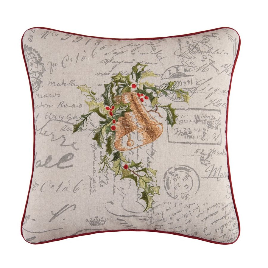 C&F Enterprises Embroidered Christmas Bell Pillow