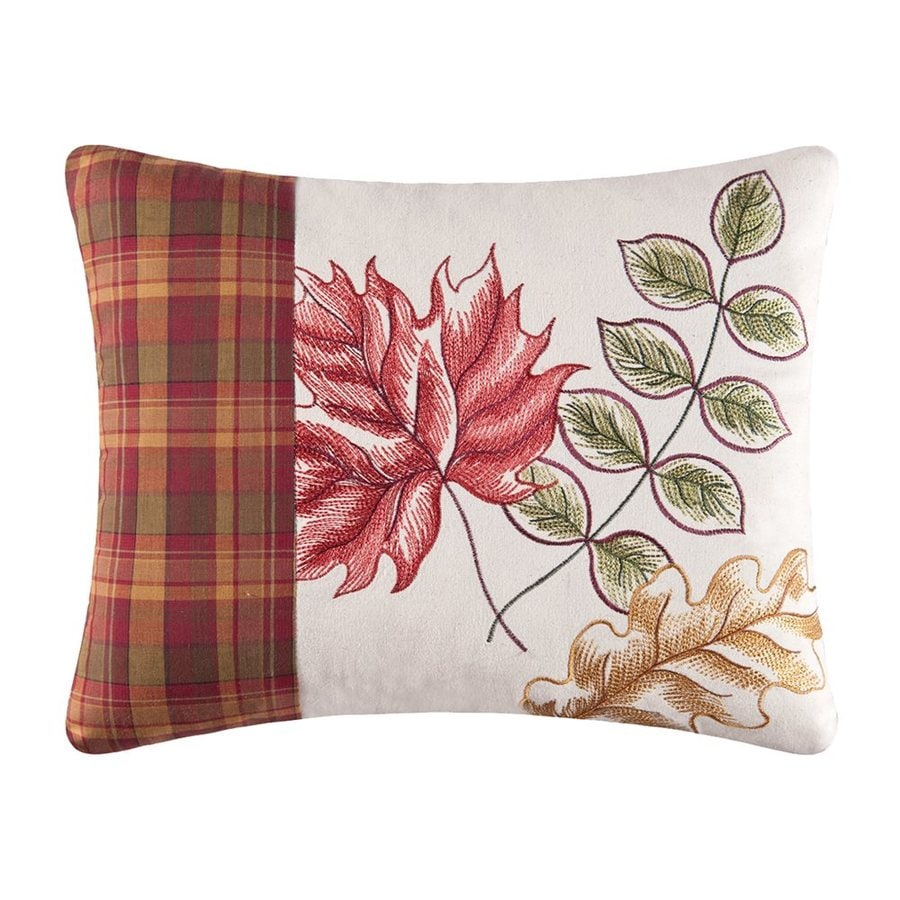 Shop c f enterprises embroidered fall leaves pillow at