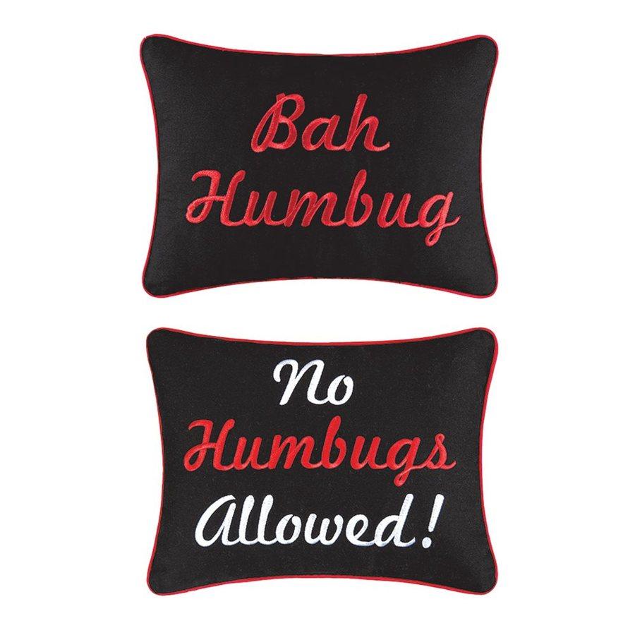 Shop c f enterprises reversible humbug no humbugs pillow for Bah humbug door decoration