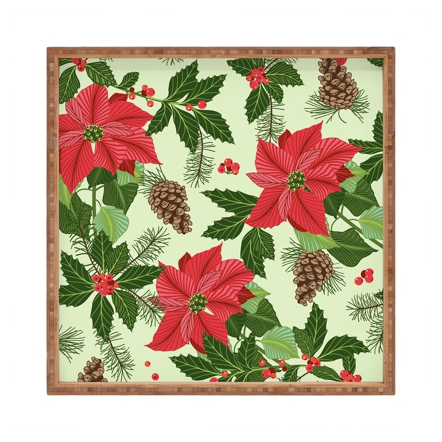 Deny Designs Poinsettia Serving Tray