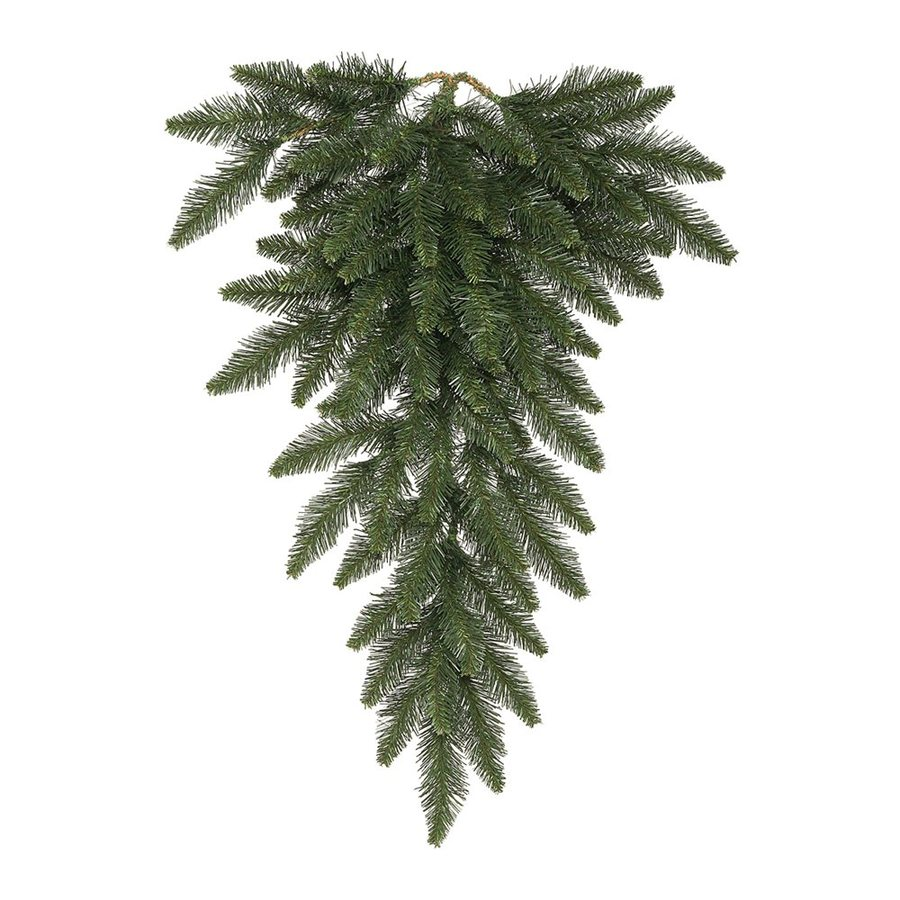 Vickerman 4-ft Pre-lit Camdon Fir Upside-down Artificial Christmas Tree with 100 Clear White Incandescent Lights