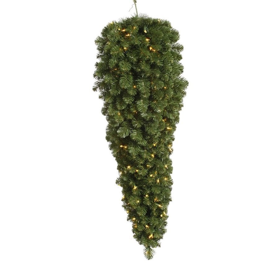 Vickerman 3 Ft Pre Lit Slim Upside Down Artificial Christmas Tree With 50