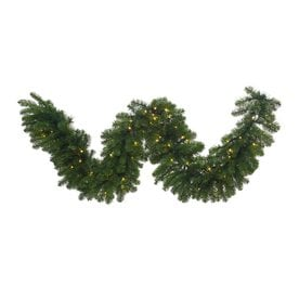 vickerman indoor pre lit 9 ft l grand teton garland white led lights - Christmas Garland