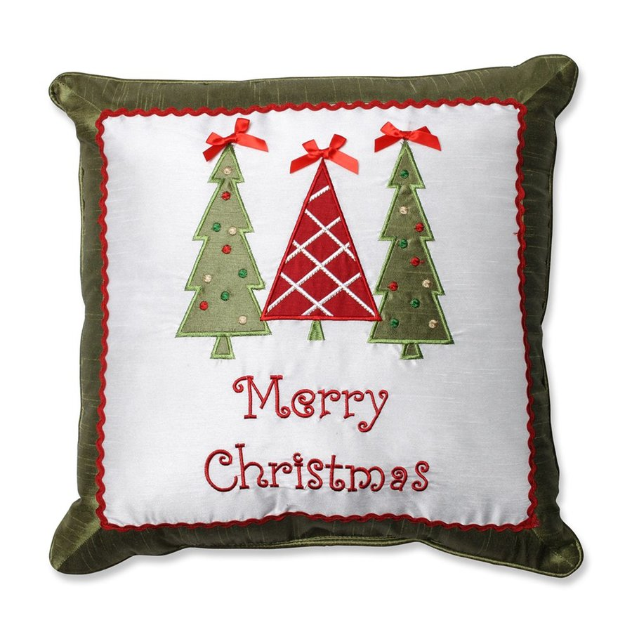 Pillow Perfect Merry Christmas Tree Pillow
