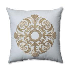 Pillow Perfect 1 Piece Gold White Patio Chair Cushion