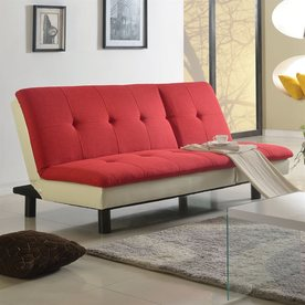 acme furniture fralling redbeige futon