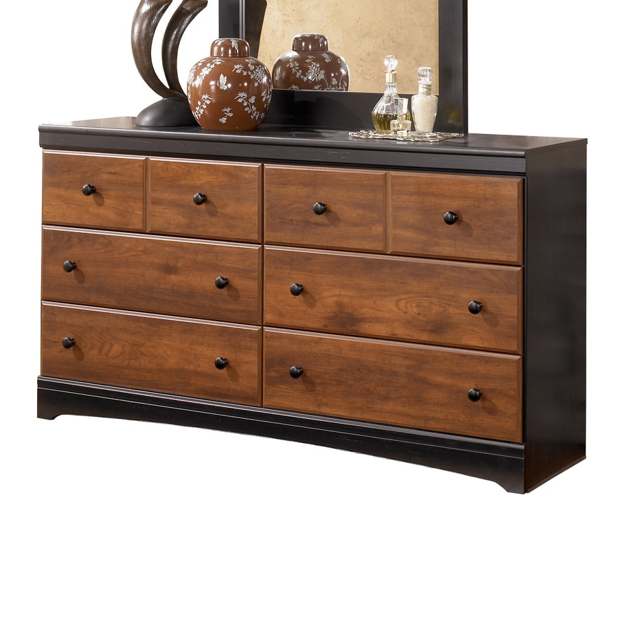 Signature Design by Ashley Aimwell Dark Brown 6-Drawer Double Dresser