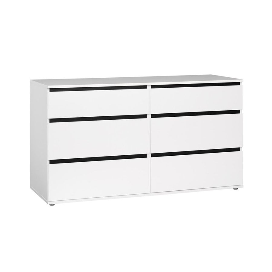 Tvilum Aurora White 6-Drawer Double Dresser