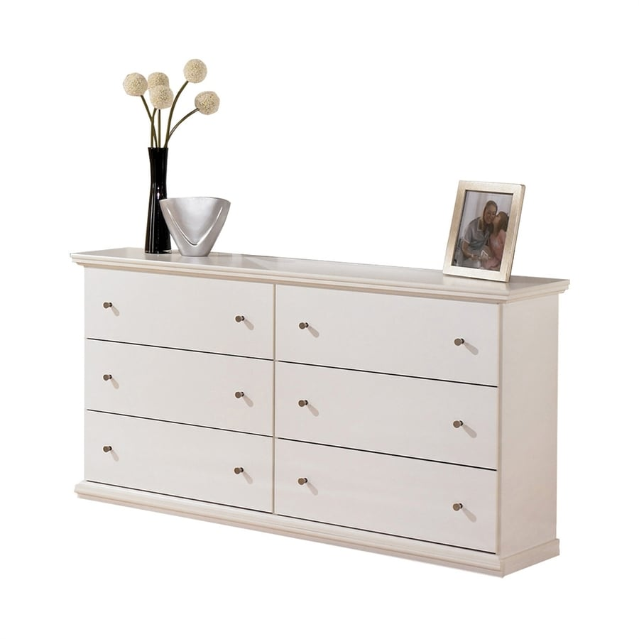Signature Design by Ashley Bostwick Shoals White 6-Drawer Double Dresser