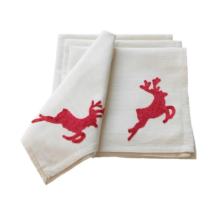 XIA Home Fashions Reindeer Napkins