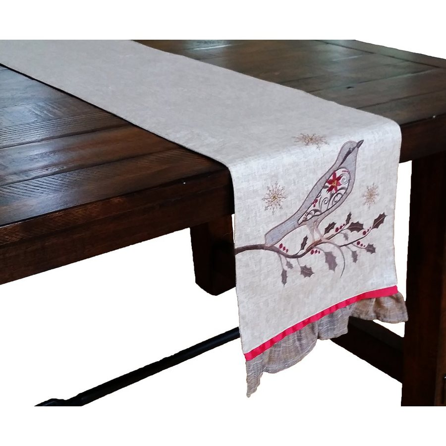 XIA Home Fashions Brown Bird Table Runner