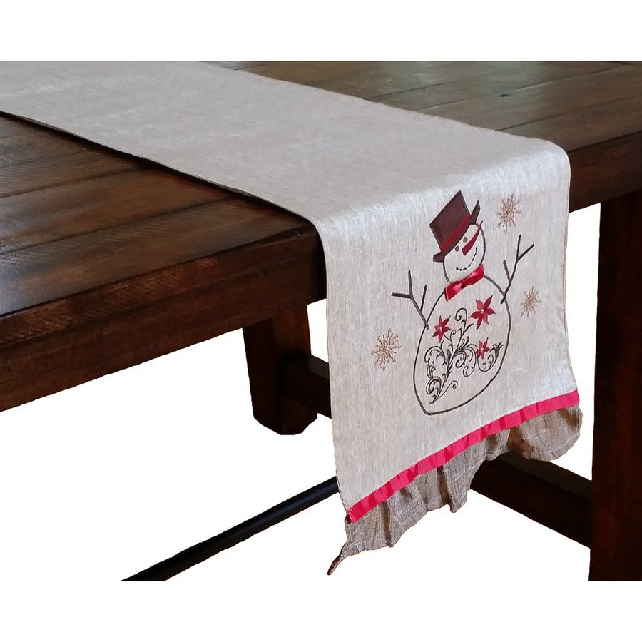 XIA Home Fashions Snowman Table Runner